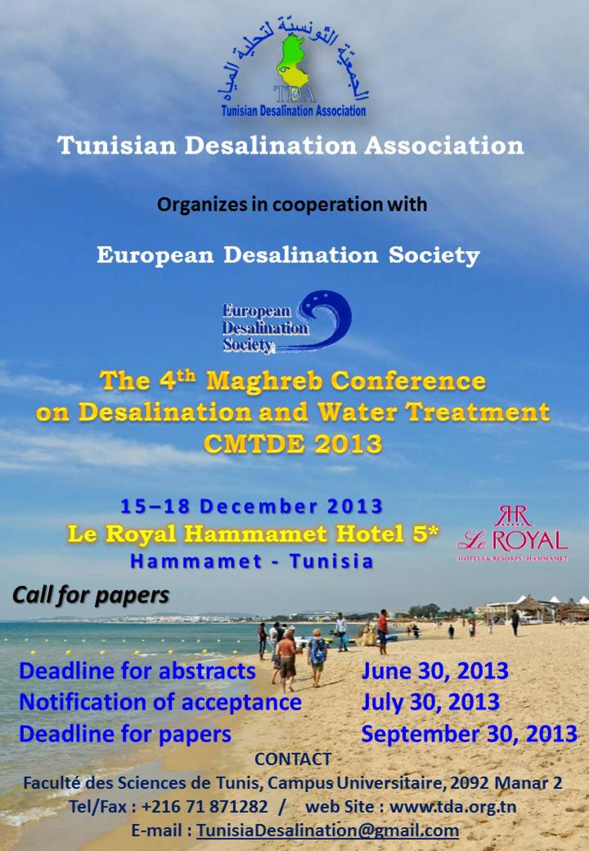 "Tunisian Desalination Association span style=""font weight bold"